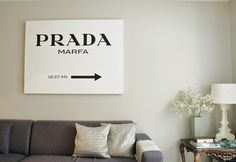 Home DIY: Prada Marfa sign (from Gossip Girl) - Newest Project happening this weekend! :)