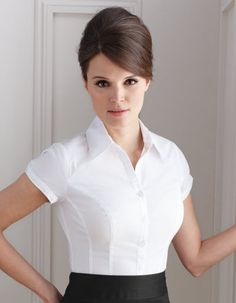 Short Sleeve Classic Shirt by Pepperberry Loving the hairstyle too.