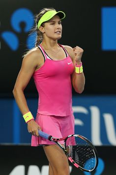 Hot photos of tennis star Eugenie Bouchard in action at the 2015 Australian Open Mode Tennis, Wta Tennis, Sport Tennis, Tennis Live, Tennis Stars, Eugene Bouchard, Chuck Taylors, Tennis Photos, Tennis World