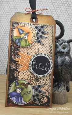 Cicely at Halloween   Waltzingmouse Stamps