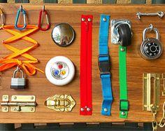 Busy Board, Toddler Busy Board, Sensory Board, Toddler Activity Board, Montessori Activity Board, First Birthday gift