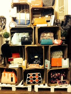 Our display of handbags and wallets!