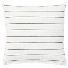 IKEA - KONSTANSE, Cushion, white, dark gray, The cushion has decorative embroidery. Cushions Ikea, Small Cushions, Small Sofa, Couch Pillows, Brimnes, Banquette 2 Places, Minimalist Pattern, Black Sharpie, Courtyards