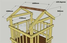 Play fort roof diagram.