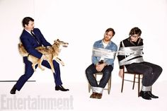 The Black Keys pose for Entertainment Weekly with Eastbound And Down's Danny McBride » #TheBlackKeys #Musicians #DannyMcbride #EntertainmentWeekly #EastboundAndDown #Dakota #PatrickAndDan