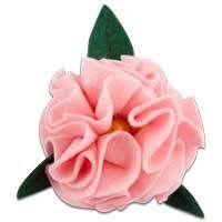 Carnation Felt Button