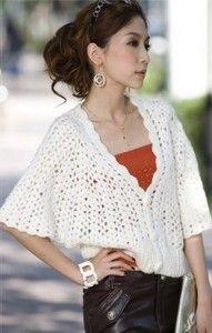 Openwork Crochet Jacket Free Pattern