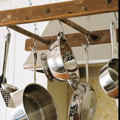 Repurpose an Old Ladder Into a Pot Rack