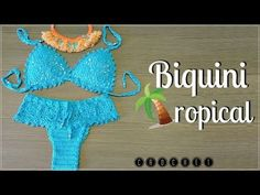 Knitting and Bordado Crochet Bra, Crochet T Shirts, Crochet Bikini Top, Crochet Clothes, Crochet Bathing Suits, Beginner Crochet Tutorial, Bra Pattern, Crochet Videos, Youtube