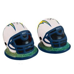 NFL San Diego Chargers Helmet Salt and Pepper Shakers by The Memory Company. $12.01. NFL San Diego Chargers Helmet Salt and Pepper Shakers. Save 29% Off!