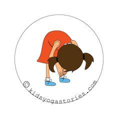 standing forward Bend kids yoga stories