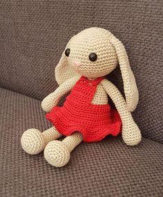 Амигуруми зайка Дженни схема вязаной игрушки крючком