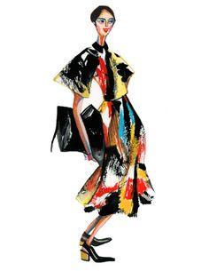 Modeconnect.com - Decue Wu Illustration Celine Spring 2014