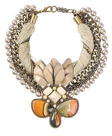$608, Beavaldes Necklaces. Sold by yoox.com.