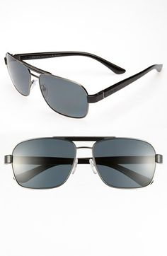 Prada 60mm Polarized Retro Sunglasses available at #Nordstrom. Prada for MEN
