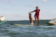 Bethany Hamilton and Nick Vujicic surfing!  Awesome!