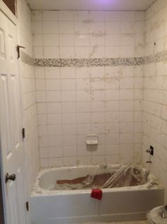 How to Retile a Shower | House repair, House and Bath