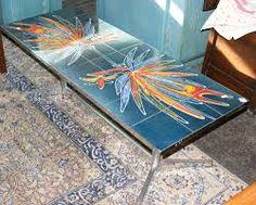 Image result for tile and chrome retro coffee table Retro Coffee Tables, Tile, Chrome, Image, Furniture, Mosaics, Home Furnishings, Tiles, Arredamento