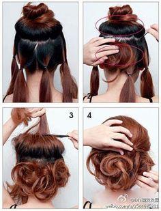 Mai #frizura: laza #konty négy lépésben / Today's #hair: lazy #bun in four steps #sbs #stepbystep