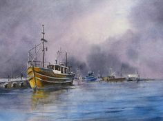 Great find in the gallery this morning. Love this watercolour by Gill Farquharson