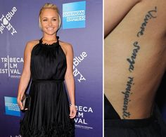 Pin for Later: Die ultimative Galerie der Promi Tattoos! Hayden Panettiere
