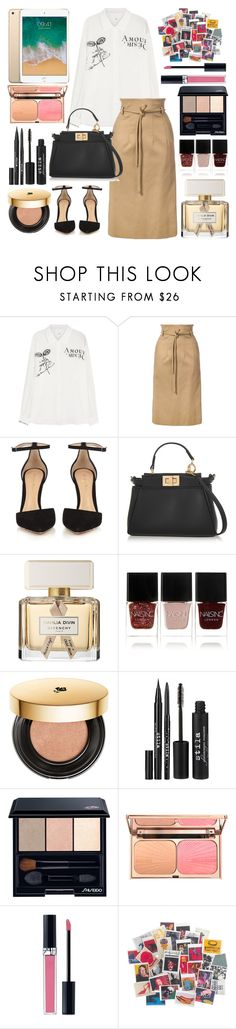 """""""Untitled #576"""" by ngkhhuynstyle ❤ liked on Polyvore featuring Maison Margiela, Oscar de la Renta, Gianvito Rossi, Fendi, Givenchy, Nails Inc., Lancôme, Stila, Shiseido and Christian Dior"""