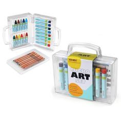 Xonex Micro Art Set, Stores 12 Micro Crayones, 8 Micro Colored Pencils, 8 Micro Oil Pastels, 5 X 5-1/2 X 1-1/2 Inches, 1 Count (59034) by Xonex. $13.68. Compact, to-go clear art case holds 12 micro crayons, 8 micro colored pencils, 8 micro oil pastels