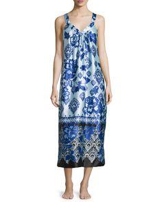 Signature Sleeveless Night Gown, Women's, Size: S, Cvine - Oscar de la Renta