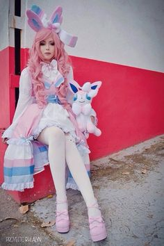 cosplay pokemon sylveon gijinka by LEAMNERSHOP on Etsy