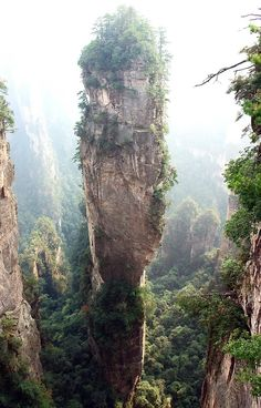 Hallelujah Mountains, China. Renamed after the hallelujah mountians in Avatar.