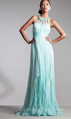Sheath Round Light Sky Blue Tulle Long Dress. Mother of the Bride.