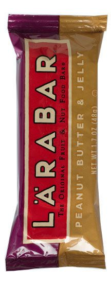 LÄRABAR LARABAR Peanut Butter & Jelly | One bite will bring you right back to the PB&Js of your past. Our Peanut Butter & Jelly is just like the classic, made with only 4 simple ingredients, including dates, peanuts, unsweetened cherries and a touch of salt. Also comes with 6 grams of protein and no crusts!