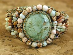 White Creek Turquoise Cuff... I love all of these colors and the stones