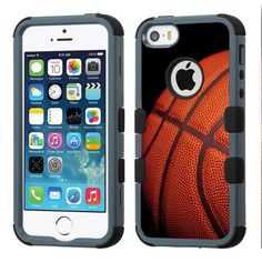 For Apple iPhone SE / iPhone 5 / iPhone 5S Case 3-Layer Armor Hybrid Rugged Silicone Phone Cover FancyGuard (BasketBall/Black). For Apple iPhone SE / iPhone 5 / iPhone 5S (AT&T T-Mobile Sprint Verizon MetroPCS Cricket Boost). Quality hard impact case cover that provides extra protection to the back, side and corners. Soft gel skin bumper absorbs shockproof while the hard plastic makes sure everything stays safe and secure. Precisely Designed to fit and protect your phone perfectly without...