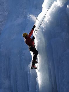 In the mountains of southwestern Colorado, Ouray is home to the world's first park devoted exclusively to the sport of ice climbing. It also hosts an annual ice climbing festival. Trekking, Base Jumping, Mountain Climbers, Ice Climbing, Climbing Girl, Skydiving, Extreme Sports, Mountaineering, Outdoor Activities
