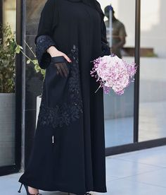 Subhan Abayas A B.photoshoot Skilled Arabs and features Khef Remy and Zen no matter how necessary to come over. Abaya Fashion, Muslim Fashion, Fashion Dresses, Hijab Abaya, Abaya Pattern, Abaya Dubai, Black Abaya, Mode Abaya, Iranian Women Fashion