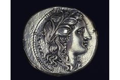 Greek Coin Showing Persephone  310/307B.C.  silver tetradrachm  view reverse  The Art Institute of Chicago