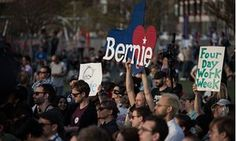 Bernie Sanders presidential campaigning, Long Island City, New York, America - 18 Apr 2016Mandatory Credit: Photo by ddp USA/REX/Shutterstock (5653031k) Democratic presidential candidate, Bernie Sanders, holds a rally in Hunters Point South Park in Long Island, New York New York's primary vote will take place on Tuesday. (Photo by Monica Jorge) *** Please Use Credit from Credit Field *** Bernie Sanders presidential campaigning, Long Island City, New York, America - 18 Apr 2016