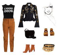 """Dior T-shirt Up Styled (contest)"" by scolab ❤ liked on Polyvore featuring Christian Dior, Erdem, Chloé, 10 Crosby Derek Lam, Loeffler Randall, Hervé Van Der Straeten and MM6 Maison Margiela"