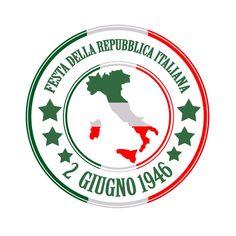 festa della repubblica grunge stamp with on vector illustration