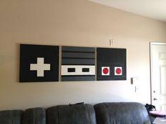 Diy Wand, Nerd Room, Gamer Room, Nerd Cave, Retro Home Decor, Diy Home Decor, Modern Decor, Mur Diy, Gaming Wall Art