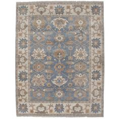 Shop for Ecarpetgallery Hand-knotted Royal Ushak Blue Wool Rug (7'9 x 10'). Get free shipping at Overstock.com - Your Online Home Decor Outlet Store! Get 5% in rewards with Club O! - 18612613