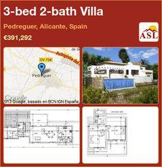 3-bed 2-bath Villa in Pedreguer, Alicante, Spain ►€391,292 #PropertyForSaleInSpain