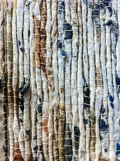 Lorna Crane - inspiration for rock strata ideas Textile Texture, Textile Fiber Art, Textile Fabrics, Textile Artists, Fabric Art, Fabric Crafts, Fabric Design, Textiles Techniques, Weaving Techniques