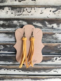Tassel Leather Earrings Handmade Earrings Leather Earrings