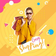 Crazy Shopping - by abrahamseare banner design - Crazy Shopping – by abrahamseare banner design - Graphic Design Trends, Graphic Design Posters, Modern Graphic Design, Layout Design, Ad Design, Design Ideas, Instagram Design, Instagram Ideas, Creative Poster Design