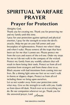 What Is Spiritual Warfare, Spiritual Warfare Quotes, Prayer For Discernment, Faith Prayer, Good Night Prayer, Prayer For The Day, Short Prayers, Special Prayers, Powerful Prayers