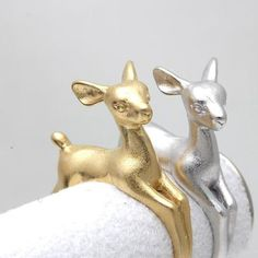 1pc Adjustable Bambee Ring Animal Deer Ring in Gold Jewelry Retro Wholesale Ring Wedding Rings for Women Free Shipping R335