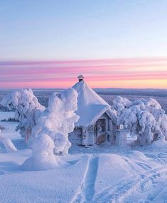Winter isn't as bad in Lapland, where reindeers still pull guests on old-fashioned, high-backed wooden sleighs across frozen landscapes—right up to the door of your cabin. Want to know what it's like to Chase winter in Finland? Winter Schnee, Tree House Designs, Winter Magic, Winter Sun, Photos Voyages, Snow Scenes, Winter Beauty, Winter Pictures, Winter Photography