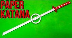 How to make a Paper Sword Katana Swords, Samurai Swords, Origami Easy, Origami Paper, Origami Sword, Paper Sword, Paper Ninja Stars, Sword Craft, Ninja Sword